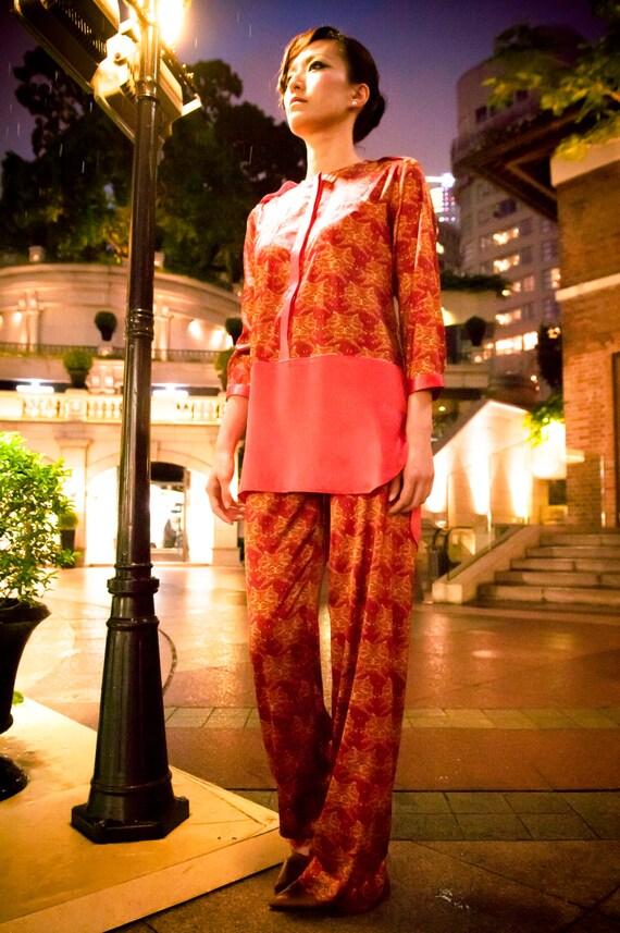 LuRe ADAEZE Crimson Red Pyjama Set