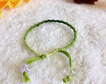 Green Gradient Friendship Bracelet