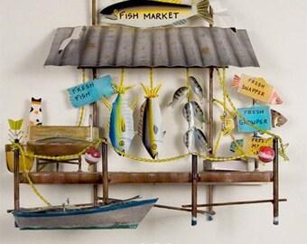 Fish Market Metal Wall Hanging - CA717