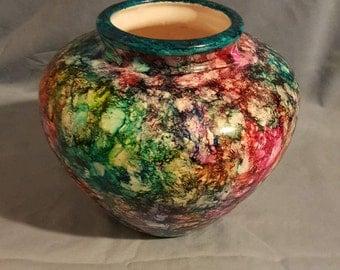 Alcohol Ink Vase