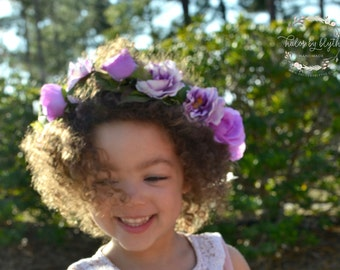 "The ""Primrose"" Floral Halo Crown // flower crown, wedding headpiece, flower crown, bridal headpiece, flower girl crown"