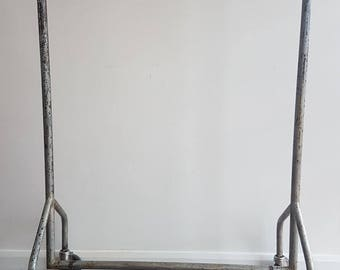 SALE Reduced From 175 to 125 Pounds Vintage Industrial Clothes Rail Hanging Rail