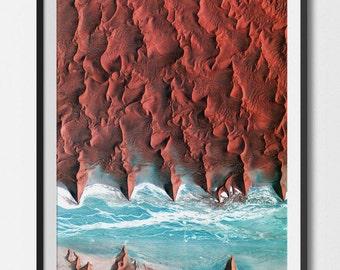Namibia Dune 45 Satellite Image Poster Print