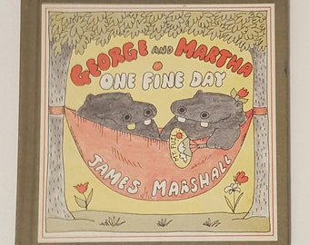 George and Martha One Fine Day by James Marshall, Vintage 1978 Childrens Hardback Book, Children's gifts, Collectible Vintage 1970's Books