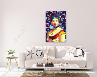 Wall ART - In Memory Of Queen Emma of Hawaii - personalized gift - art print - pop art - home decor - reproduction - canvas wall art - gift