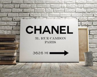 COCO CHANEL POSTER,Chanel Wall Art,Girls Room Decor,Fashion Decor,Modern Decor,Chanel Inspired,Fashionista,Quote Posters,Typography Quote