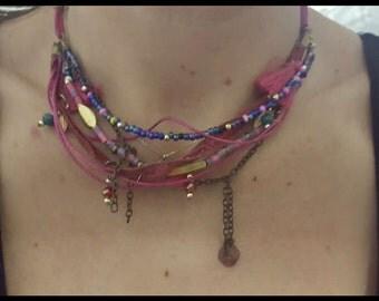 Stylish beaded women necklace, beaded necklace, colourful women necklace, everydayuse necklace, bachelorette necklace, bride, women jewelery