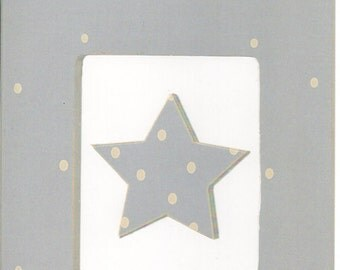 Blue White Dot Cardstock Frame My Mind's Eye This & That Scrapbook  Embellishments Cardmaking Crafts