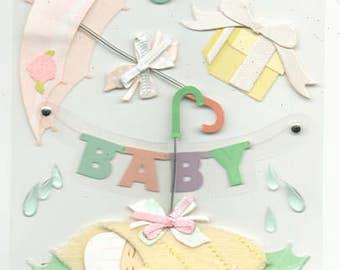 Baby Shower Jolee's Boutique Scrapbook Stickers Embellishments Cardmaking Crafts