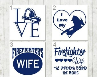 Firefighter Decal, Firefighter Wife Decal, Firemen Gift, Firefighter Tumbler Decal, Firefighter Wife Gift, Hero Decal, Proud Wife Decal