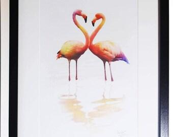 Romantic Flamingos