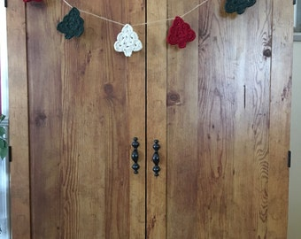 Crochet Christmas Tree Bunting | Christmas Tree Garland