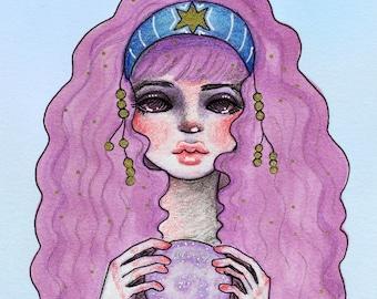 Starry Gypsy Magic Fortune Teller Print   Planner Dashboard Divider Insert