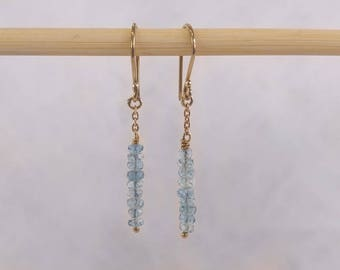 Gold/Gold-filled chain and semi-precious stones earrings