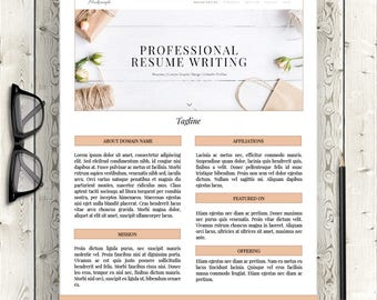 Media Kit Template, Customizable, Match Branding, Two-Pages, Digital Download, for Word