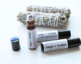 Sacred Sage Smudge Roll-on // Sage Smudge Roller // Sacred smudge oil // Smudge Roll on // Sage Ritual Oil // Sage Anointing Oil