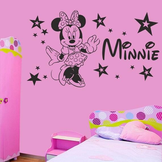 Custom Name Minnie Mouse Wall Decal - Nursery Room Decor - Kids Room Wall sticker - Nursery Wall Decal  - Home Decor - personalized Name