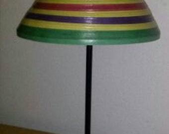 TABLE LAMP made out of paper streamers