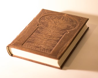 Leather Journal Diary Blank book Large brown