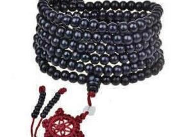 Black Tibetan Sandalwood Buddhist Buddha 216 Praye