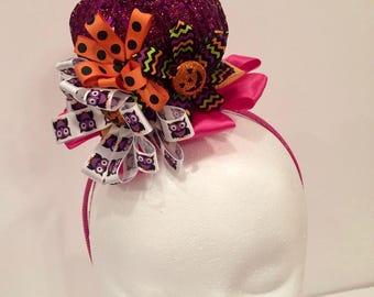 Purple Sparkle  Madhatter Headband