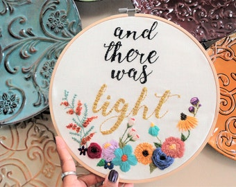 Custom Embroidery • Hoop Art • Embroidery Hoop • Inspirational Hoop Art • Textile Art • Gift • Anniversary • Engagement • Home Décor