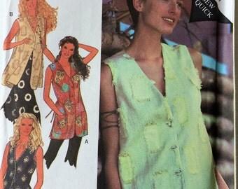 Style uncut sewing pattern 2467 - Misses' vest