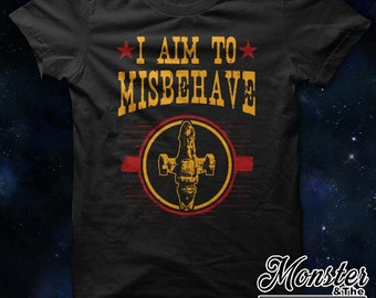I Aim To Misbehave Ringspun T-Shirt