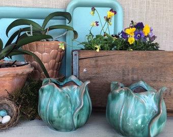 Vintage Pair of Stangl Tulip Vases
