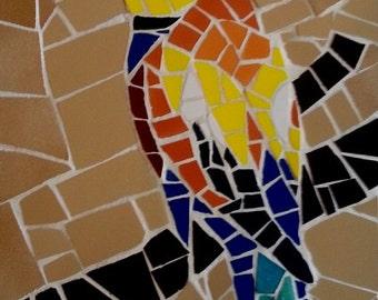 "Beautiful Decorative Handmade Mosaic Art BEE-EATER BIRD 24 x 16 cm (9.4"" x 6.3"")"