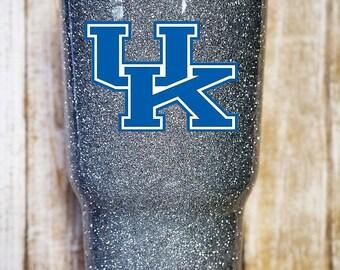 UK University of Kentucky Glitter Dipped Yeti Tumbler, Glitter Yeti, Glitter Rtic, UK yeti, UK tumbler, Kentucky Yeti, kentucky tumbler 30