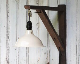 Reclaimed Wood Light - Industial Light - Farmhouse Light - Repurposed Barn Wood