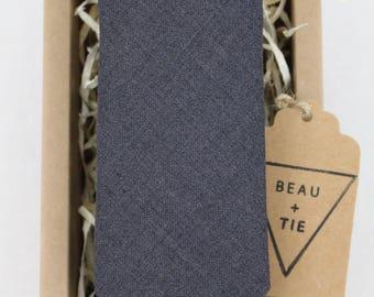 Men's Gray Wool Necktie