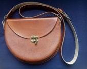 Handmade leather handbag / leather saddle bag