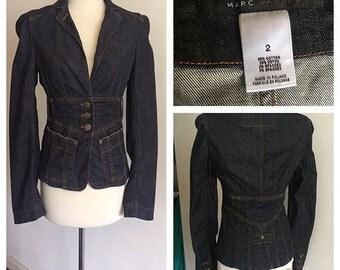 Marc Jacobs denim jacket size 2 - free worldwide shipping!
