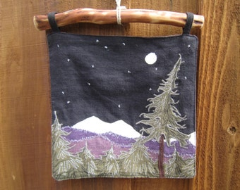 Forest Night Hemp Wall Hanging