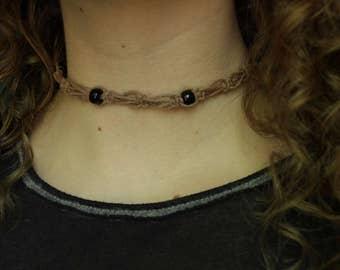 Macrame Hemp Choker / Bracelet