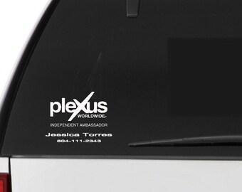 Plexus car decal- Plexus independent ambassador vinyl decal- Custom Plexus consultant decal