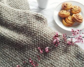 Plaid hygge. Wool brushed alpaca and silk
