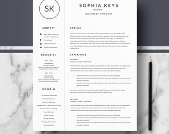 professional resume template minimalist resume ms word cv template cover letter references resume writing guide instant download - Minimalist Resume Template
