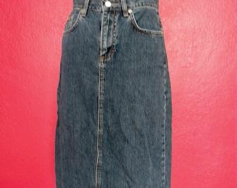 90s Calvin Klein Denim Skirt