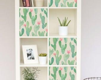 Decals For IKEA Kallax / Expedit, Cactus Stickers, Pastel, Nursery, Ikea  Hack