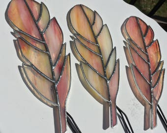 Stained Glass Feather- Lemonade