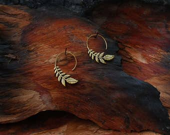 Leaf - ear jewelry