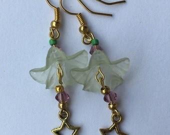 Pixie flower drop earrings