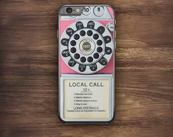 Pink Retro Vintage 50's Telephone Novelty iPhone 6 Case iPhone 6S Case iPhone 5S Case iPhone 5 Case iPhone 5C Case