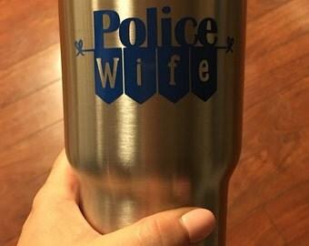 Police Wife Yeti Decal