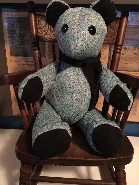Blue knit bear