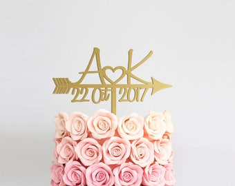 Wedding Cake Topper Initial Cake Topper Rustic Cake Topper Personalized Topper Letter Cake Topper Engagement Cake Topper Wedding Monogram