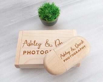 Custom Flash Drive Wedding Keepsake Wood USB 16GB USB Bridesmaid Gift Personalized USB Flash Drive Wedding Gift Memory Stick Wedding Photo